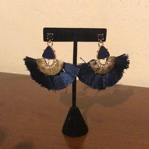 Navy blue Earrings